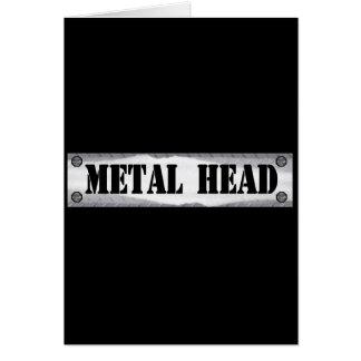 Cabeza del metal tarjeta de felicitación