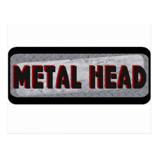 Cabeza del metal tarjeta postal