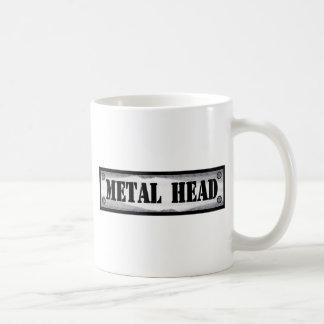Cabeza del metal taza básica blanca