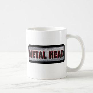 Cabeza del metal taza de café
