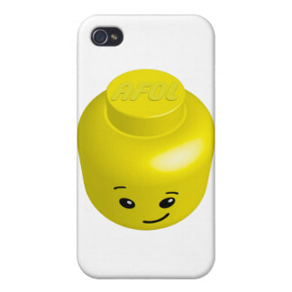 Cabeza del minifig de AFOL iPhone 4 Carcasa