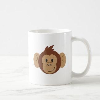 Cabeza del mono taza básica blanca