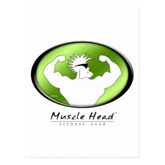 Cabeza del músculo tarjeta postal