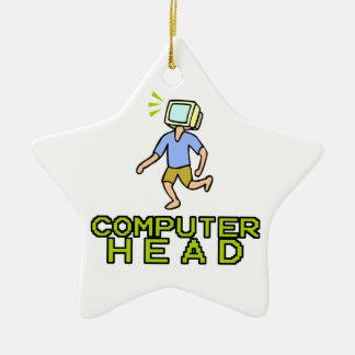 cabeza del ordenador adorno de cerámica en forma de estrella