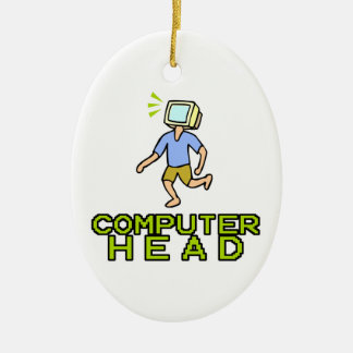 cabeza del ordenador adorno ovalado de cerámica