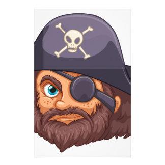 Cabeza del pirata papeleria de diseño