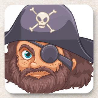 Cabeza del pirata posavaso