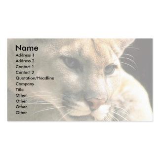 Cabeza del puma tarjetas de visita