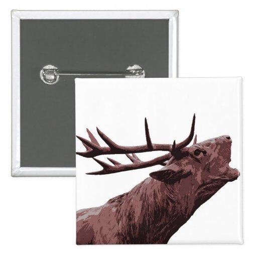 Cabeza del reno del macho - Brown Pin