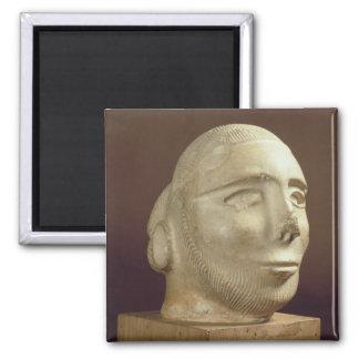 Cabeza del retrato de la esteatita, Mohenjodaro, 2 Imán De Frigorifico
