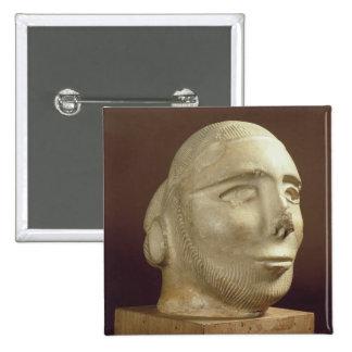 Cabeza del retrato de la esteatita, Mohenjodaro, 2 Pins