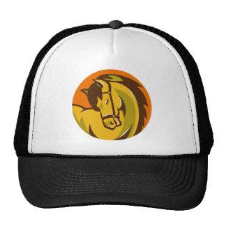 cabeza del semental del caballo retra gorras de camionero