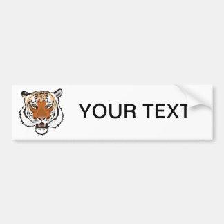 Cabeza del tigre etiqueta de parachoque
