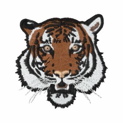 Cabeza del tigre camiseta polo