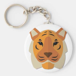 Cabeza del tigre del dibujo animado llavero