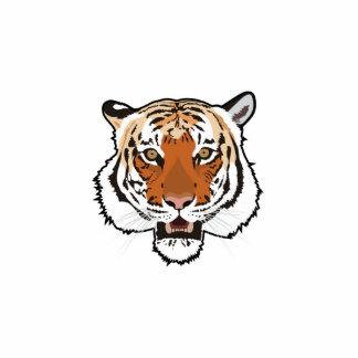 Cabeza del tigre fotoescultura vertical