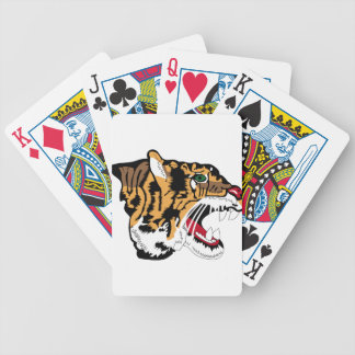 Cabeza del tigre - holandés - remiendos baraja de cartas bicycle