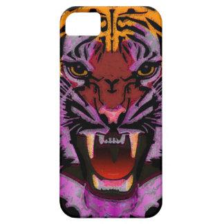 Cabeza del tigre, ilustraciones del tigre, gato iPhone 5 Case-Mate coberturas