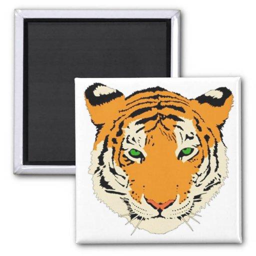 Cabeza del tigre iman de frigorífico