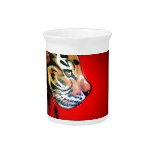 Cabeza del tigre jarra