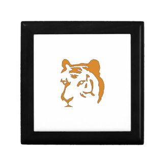Cabeza del tigre joyero cuadrado pequeño