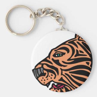 cabeza del tigre llaveros