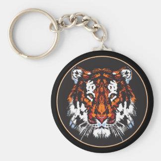 Cabeza del tigre llaveros personalizados