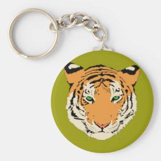 Cabeza del tigre llavero personalizado