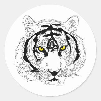 Cabeza del tigre etiquetas