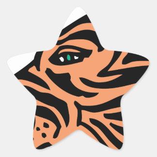 cabeza del tigre colcomanias forma de estrellas