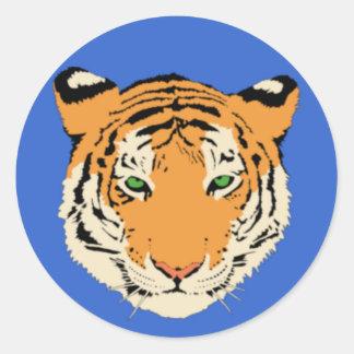 Cabeza del tigre etiqueta
