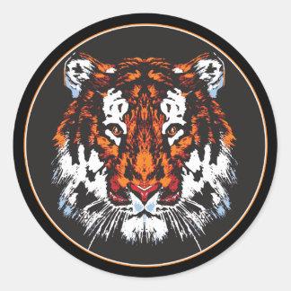 Cabeza del tigre pegatina