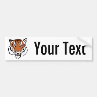 Cabeza del tigre pegatina para auto