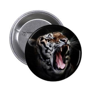 Cabeza del tigre pin redondo de 2 pulgadas
