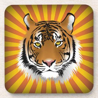 Cabeza del tigre posavasos