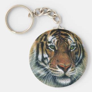 Cabeza del tigre siberiano llaveros