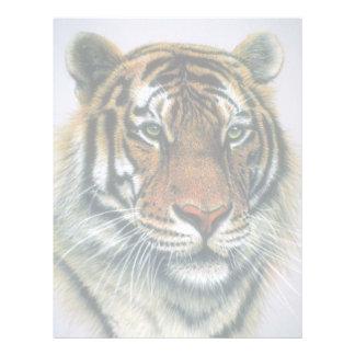Cabeza del tigre siberiano plantilla de membrete