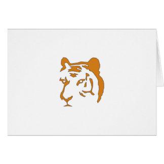 Cabeza del tigre tarjeta de felicitación