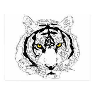 Cabeza del tigre tarjeta postal