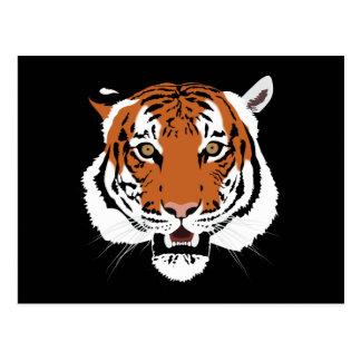 Cabeza del tigre postal