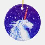 Cabeza del unicornio ornamentos para reyes magos