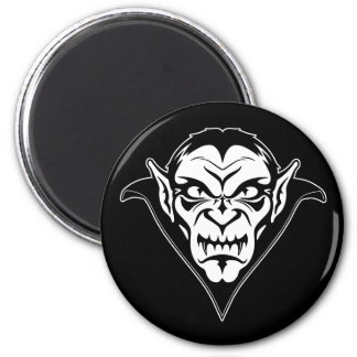Cabeza del vampiro imán redondo 5 cm