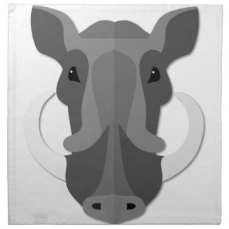 Cabeza del verraco del dibujo animado servilleta de papel