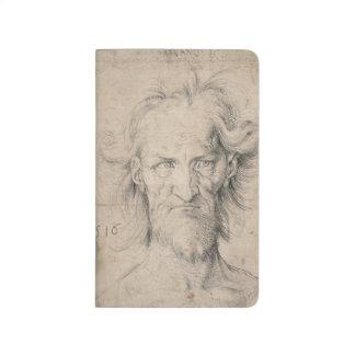 Cabeza del viejo hombre barbudo Saturn por Durer Cuaderno