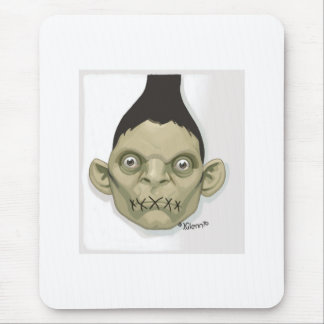 cabeza del zombi alfombrillas de ratón