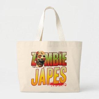Cabeza del zombi de Japes Bolsas Lienzo