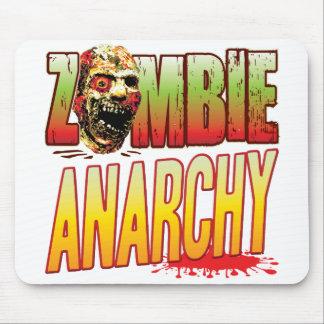 Cabeza del zombi de la anarquía alfombrilla de ratón