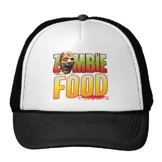 Cabeza del zombi de la comida gorras