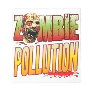 Cabeza del zombi de la contaminación bloc de notas