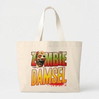 Cabeza del zombi de la damisela bolsa de mano